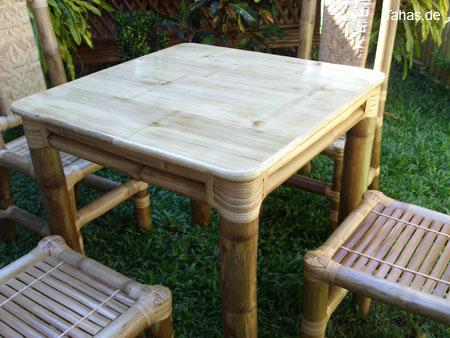 quadratischer bambustisch als bambus esstisch - tahas®, Esstisch ideennn