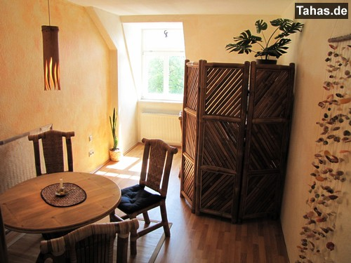 Bambustisch Fur Haus Garten Rund 100cm Tahas