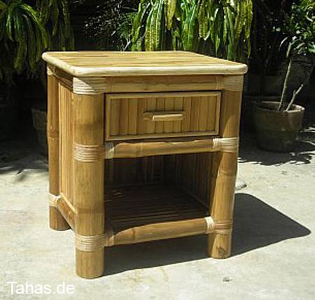 bambus nachttisch g nstig hochwertig mit schubfach tahas. Black Bedroom Furniture Sets. Home Design Ideas