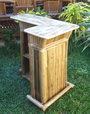 Bambusbar Als Minibar Mit Schubfach Und Bambusparkett Tahas