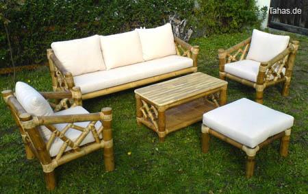 Bambus Couchgarnitur Mit Bambussessel Couchtisch Tahas