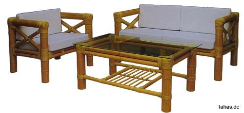 Outdoor Sitzgarnitur BAMBOO für Garten & Terrasse - Tahas®