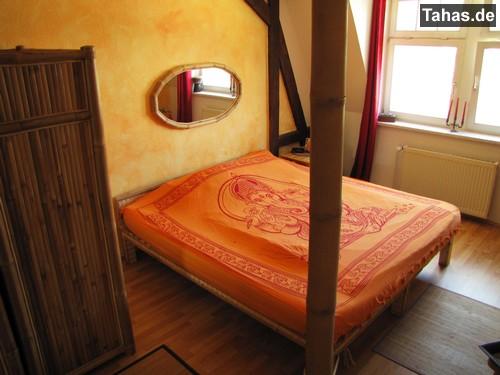 Hochwertiger ovaler bambusspiegel bambus wandspiegel - Schlafzimmer bambus ...
