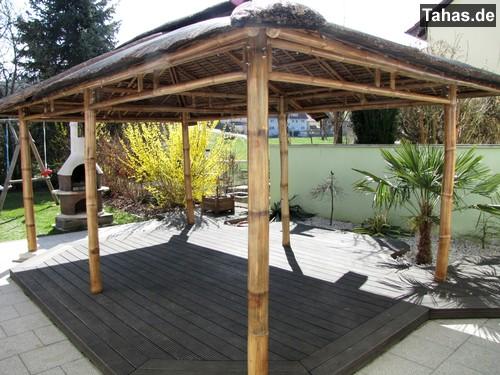 offener bambus pavillon f r garten terrasse tahas. Black Bedroom Furniture Sets. Home Design Ideas