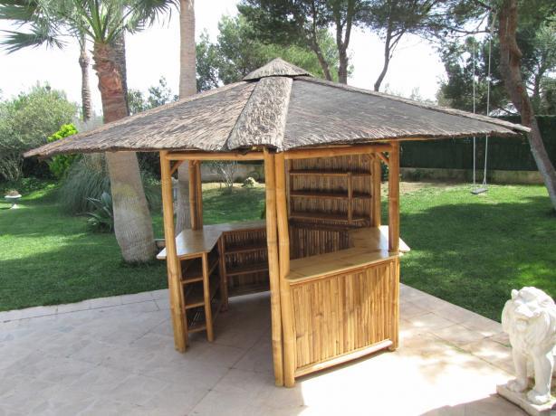 Bambus Pavillon Bambusbar Für Garten Terrasse Tahas