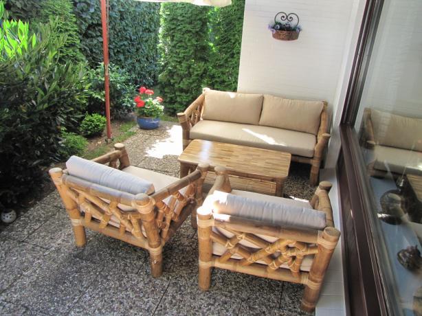 2 Sitzer Bambus Couchgarnitur Lafco Tahas
