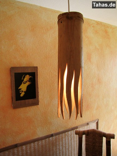 Bambus Hangelampe Bambuslampe Tahas