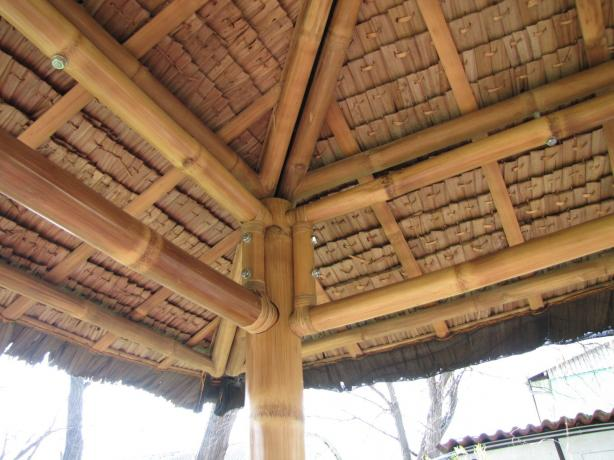 Bambus Pavillon Offen Fur Garten Terrasse Tahas