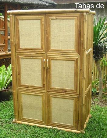 g nstiger bambus kleiderschrank in bambusoptik tahas. Black Bedroom Furniture Sets. Home Design Ideas