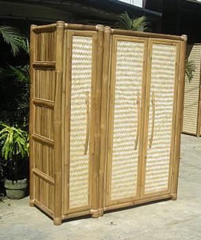 gro er bambus kleiderschrank sch ne bambusoptik tahas. Black Bedroom Furniture Sets. Home Design Ideas