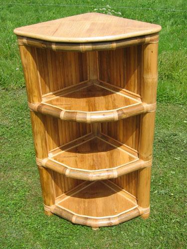 bambusregal eckregal bambus f r bad k che flur tahas. Black Bedroom Furniture Sets. Home Design Ideas